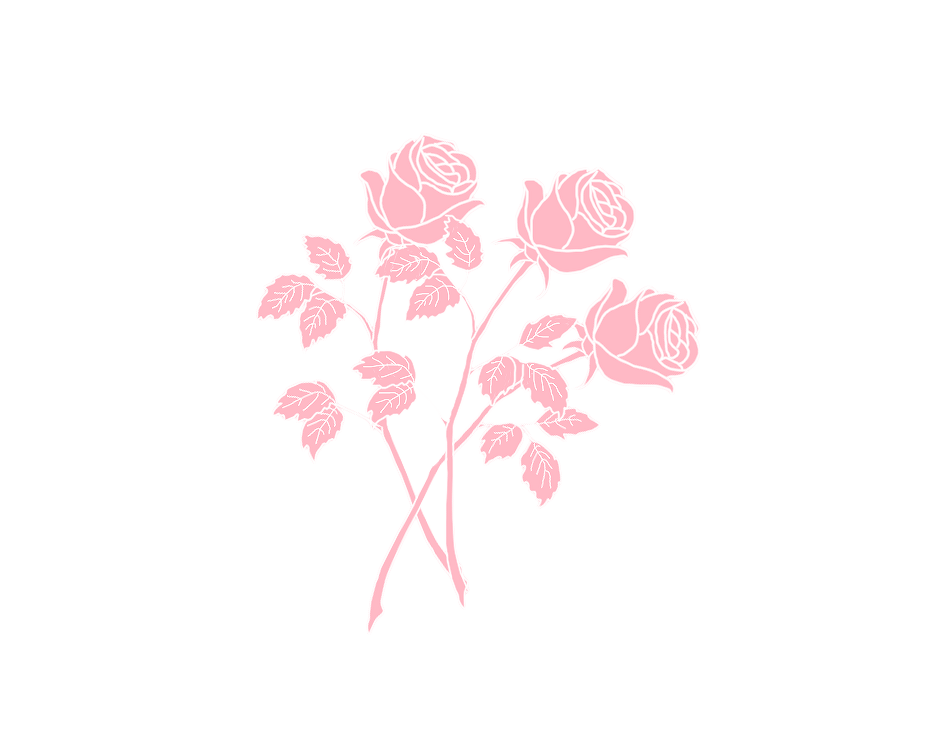 Aesthetic flower png. Transparent sticker blg soft