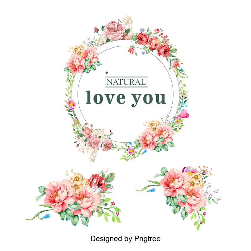 Floral vectors psd and. Garland png image svg transparent stock