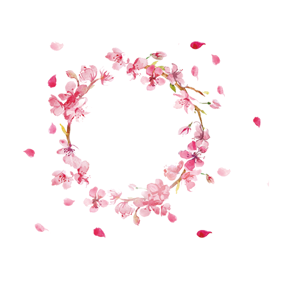 Aesthetic heart png. Aesthetics wreath garland transprent