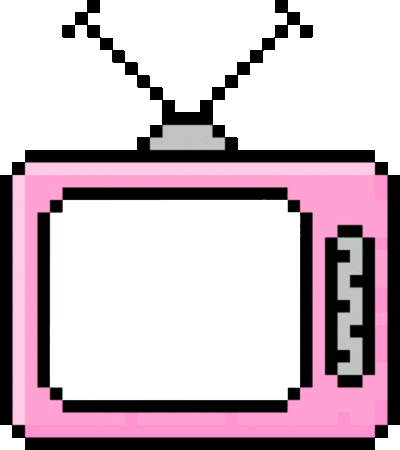 Aesthetic png. Colorful retro pastel television