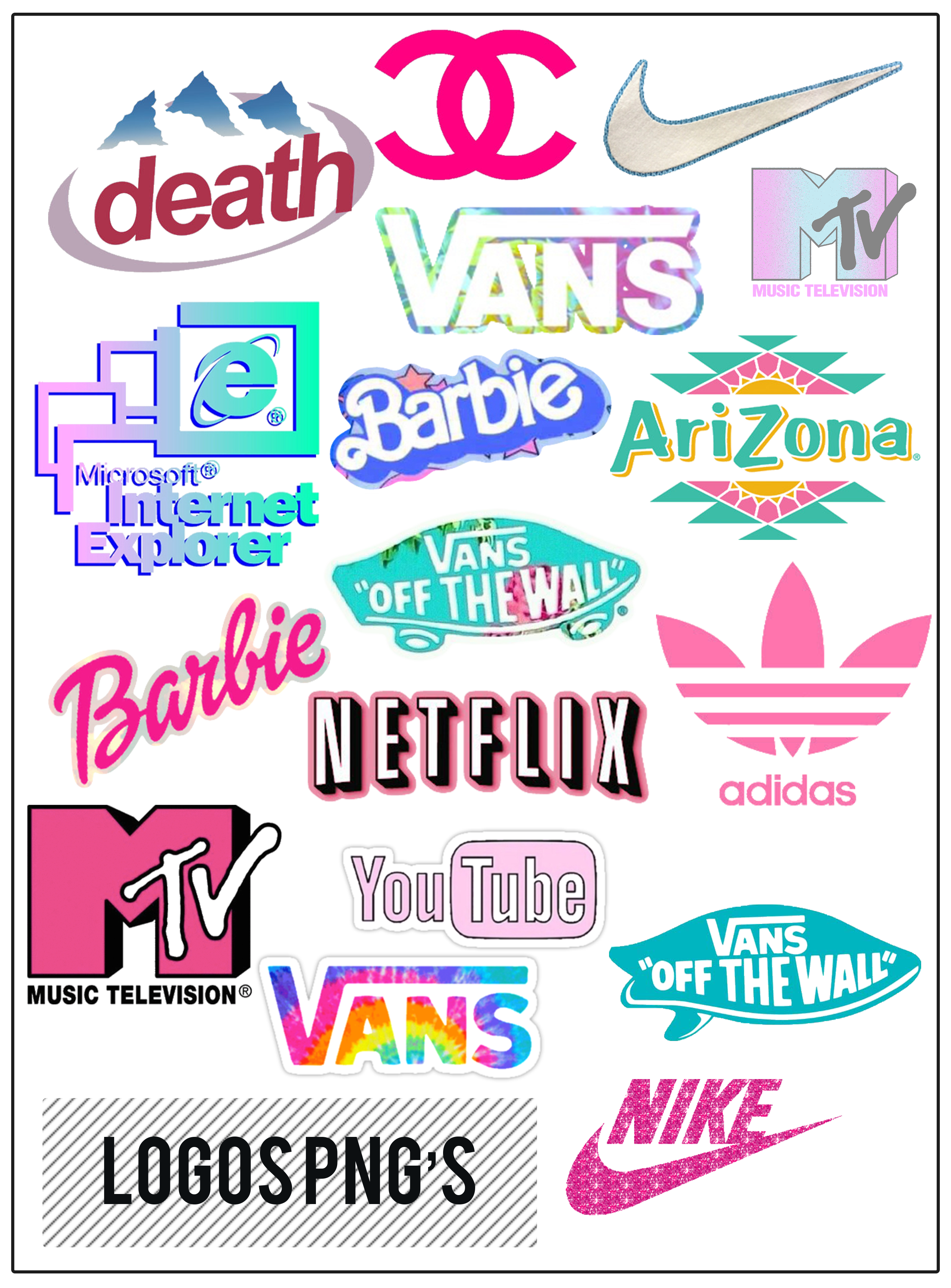 Aesthetic png pack tumblr. Brand logos s by