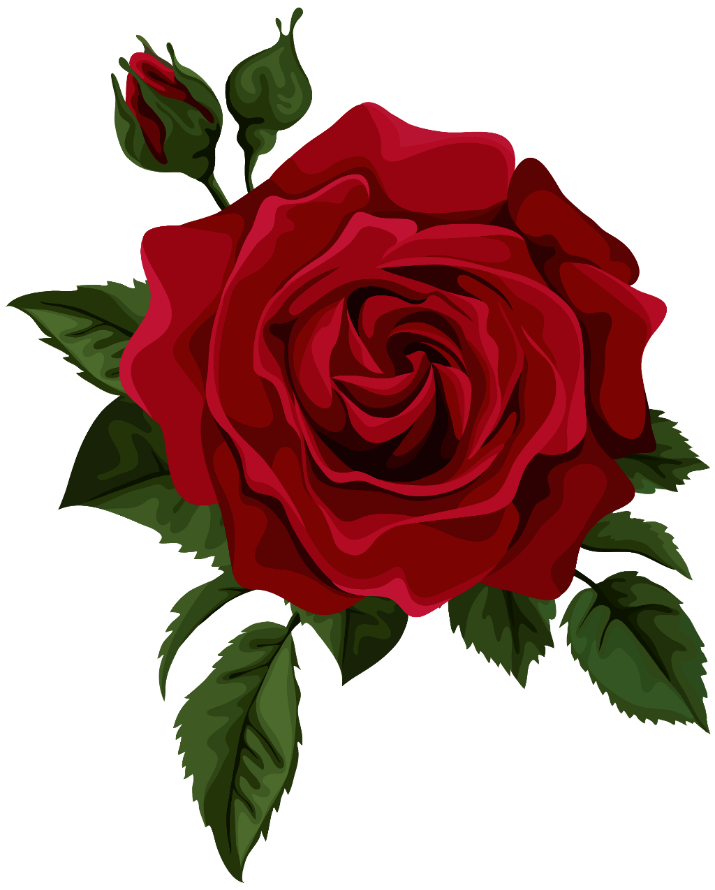 Aesthetic rose png. Red sticker by spacebxbe