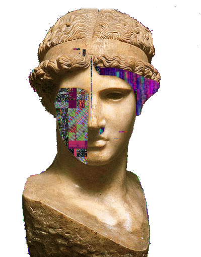 Vaporwave vector statue. Aesthetic by iamthebest on