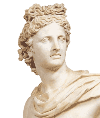 greek god apollo statue png