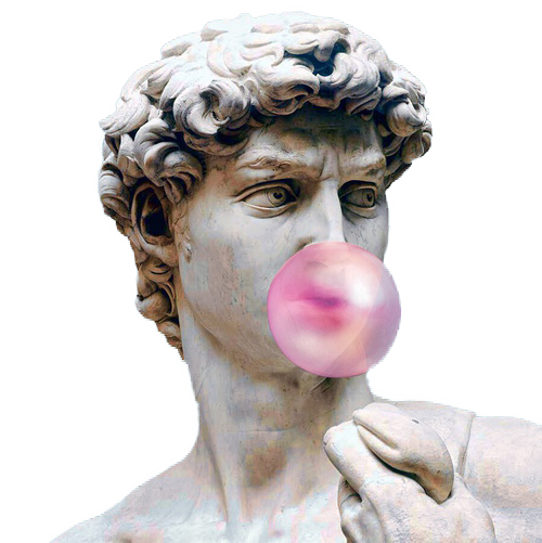 aesthetic roman statue png