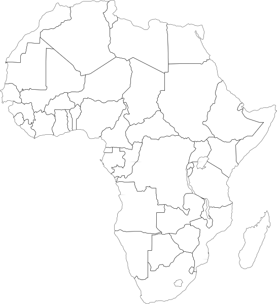 Africa blank map png. Political clip art at