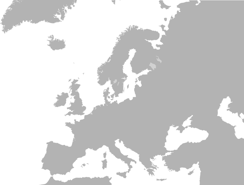 Blank map of europe png. Image px no borders
