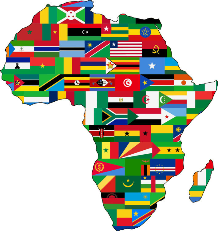 Flag of south map. Africa clipart banner free download