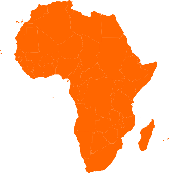 Map continent african clip. Africa clipart clip art freeuse download