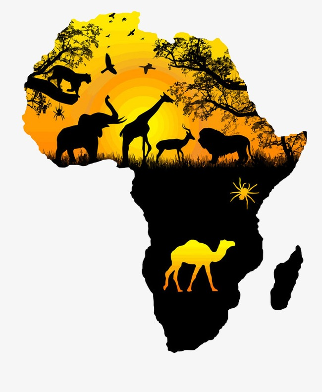 Map geography of png. Africa clipart png freeuse stock