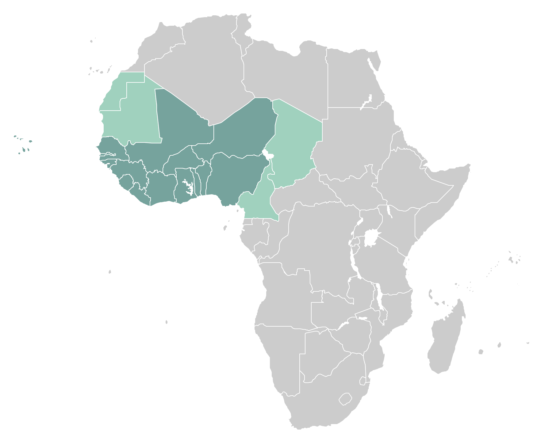 Africa clipart africa west. Map