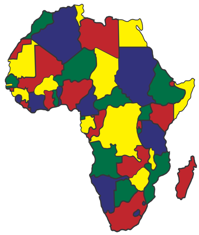 Map free commercial african. Africa clipart continent africa svg freeuse library
