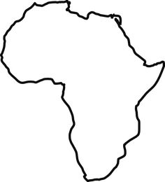 Map of the where. Africa clipart continent africa png black and white library