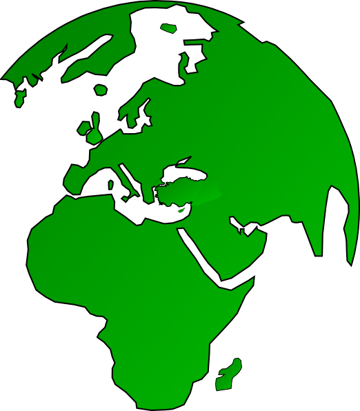 Africa vector png. African globe map green