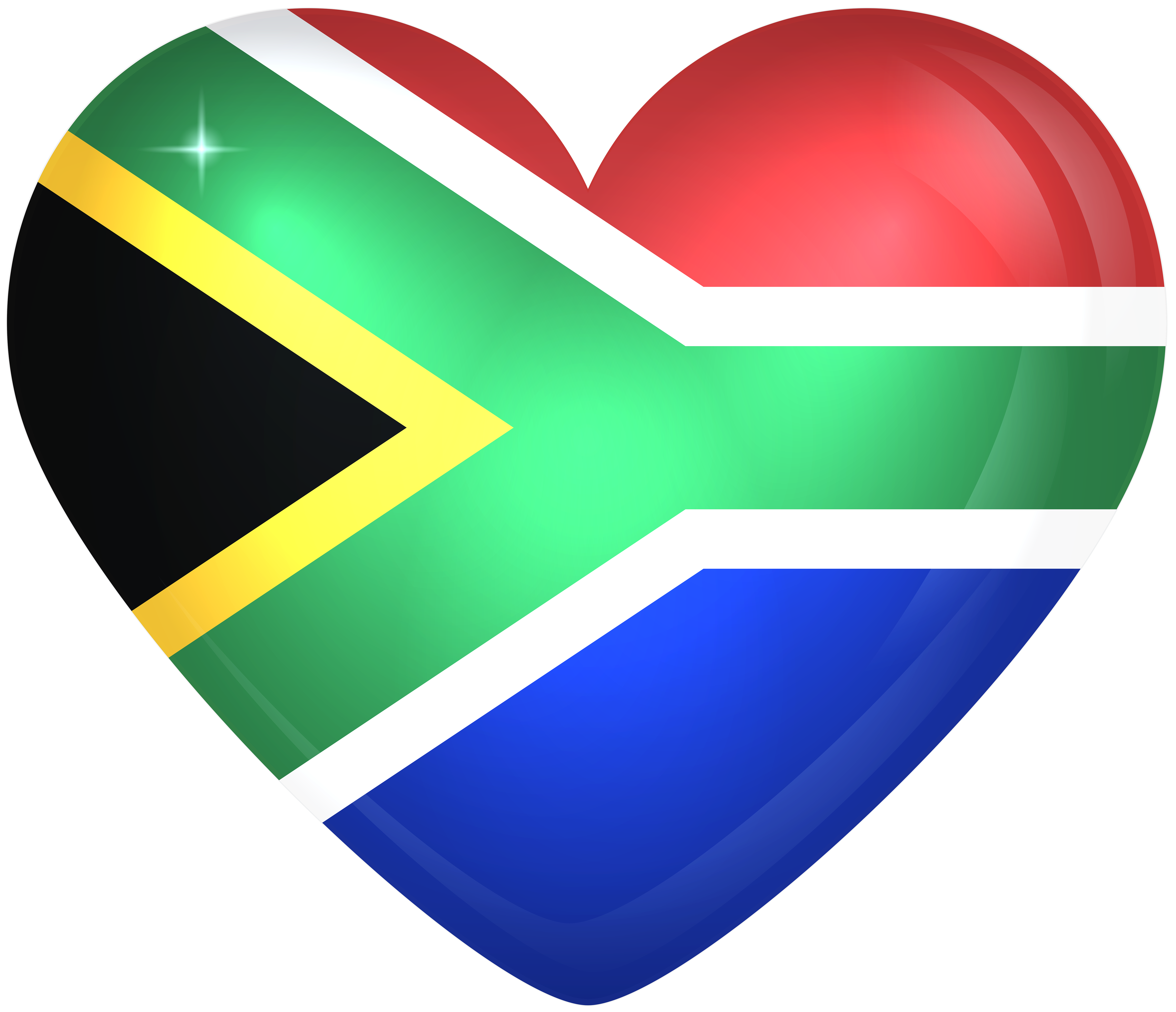 South africa png. Large heart flag gallery
