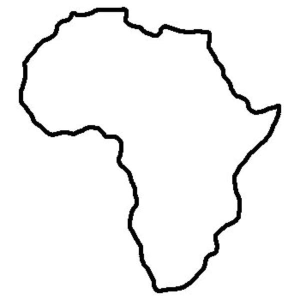 Africa clipart large. World outline free images
