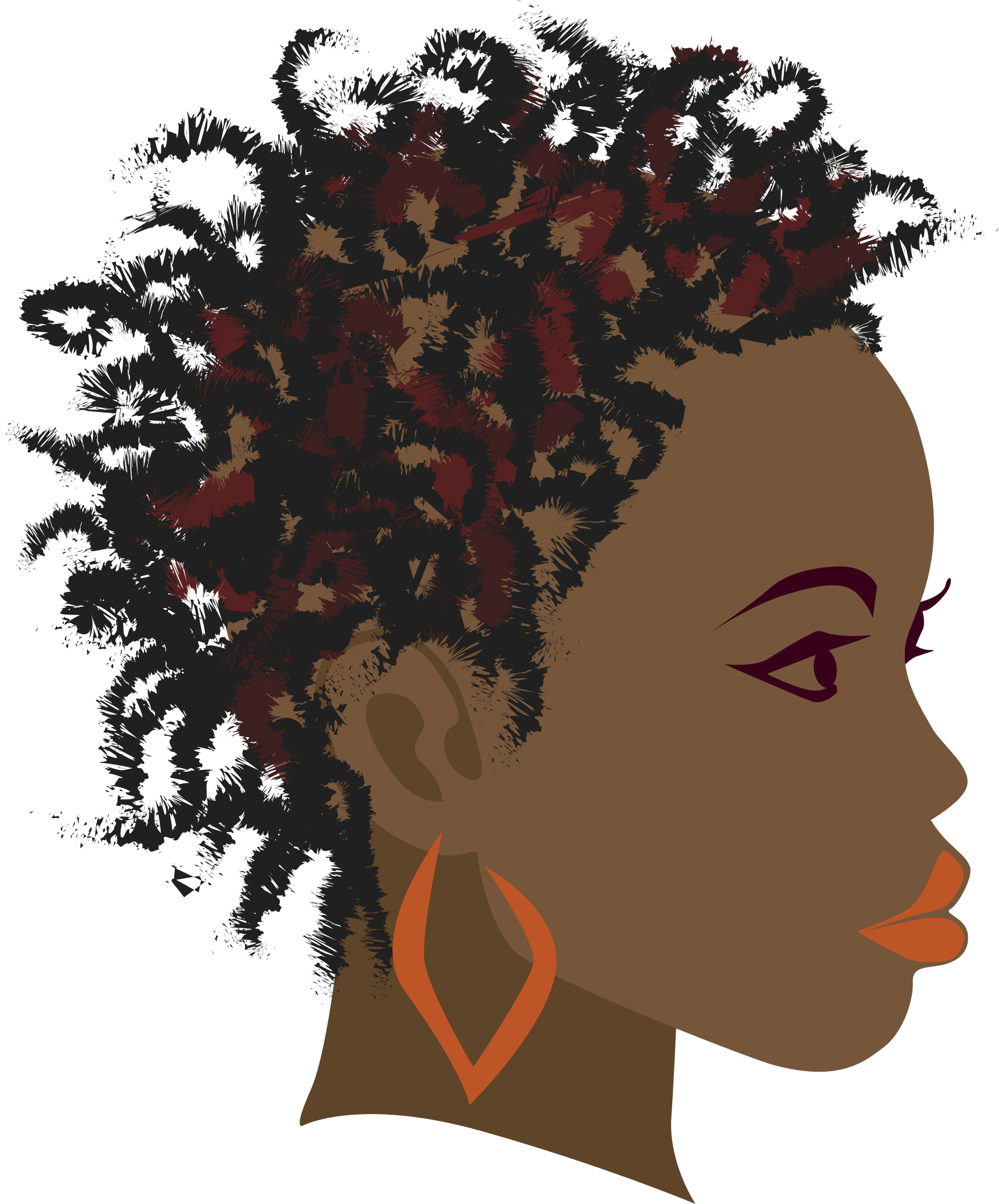 African girl big image. Afro clipart png black and white library