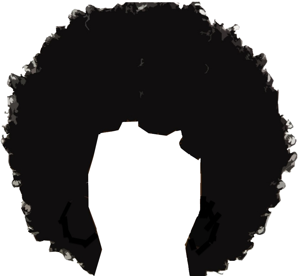 Africa continent black high definition png. Afro hair transparent images