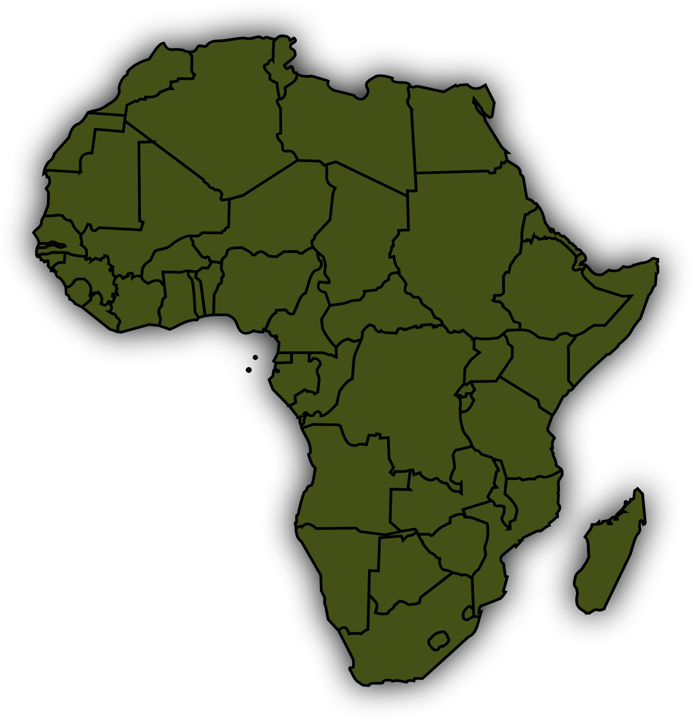 Africa map png. Basic icons free and