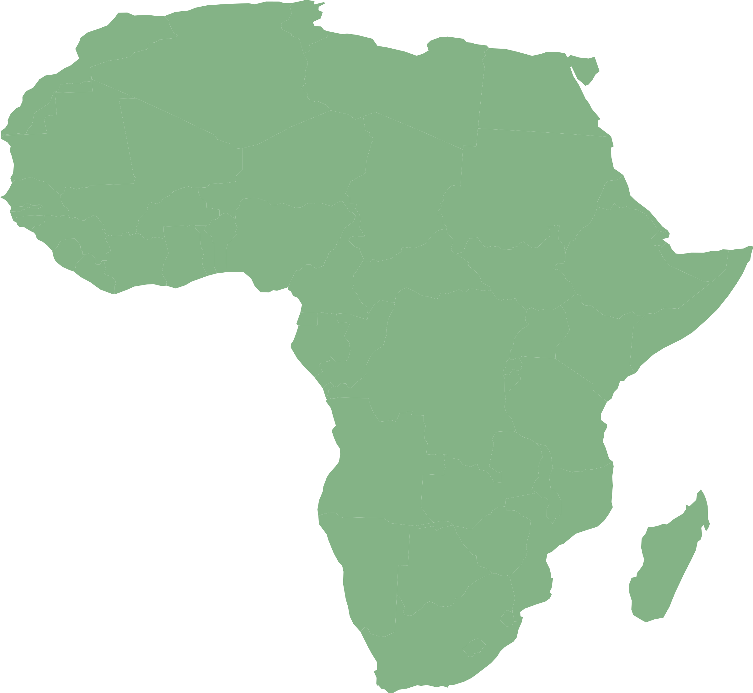Africa map png. Of with countries in