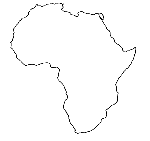 Africa outline png. Coloring page courtoisieng com