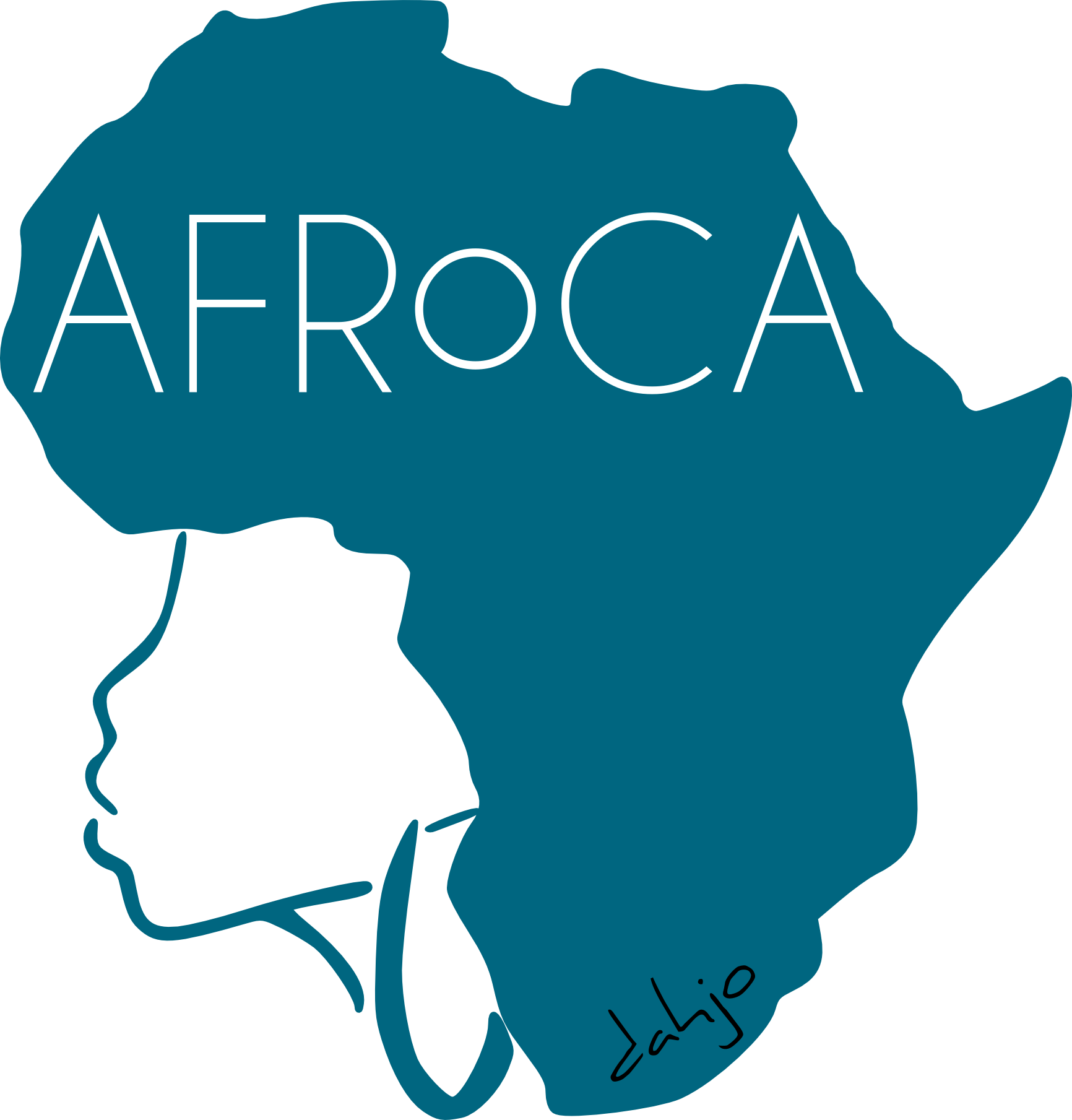 Africa outline png. Dahjo presents afroca female