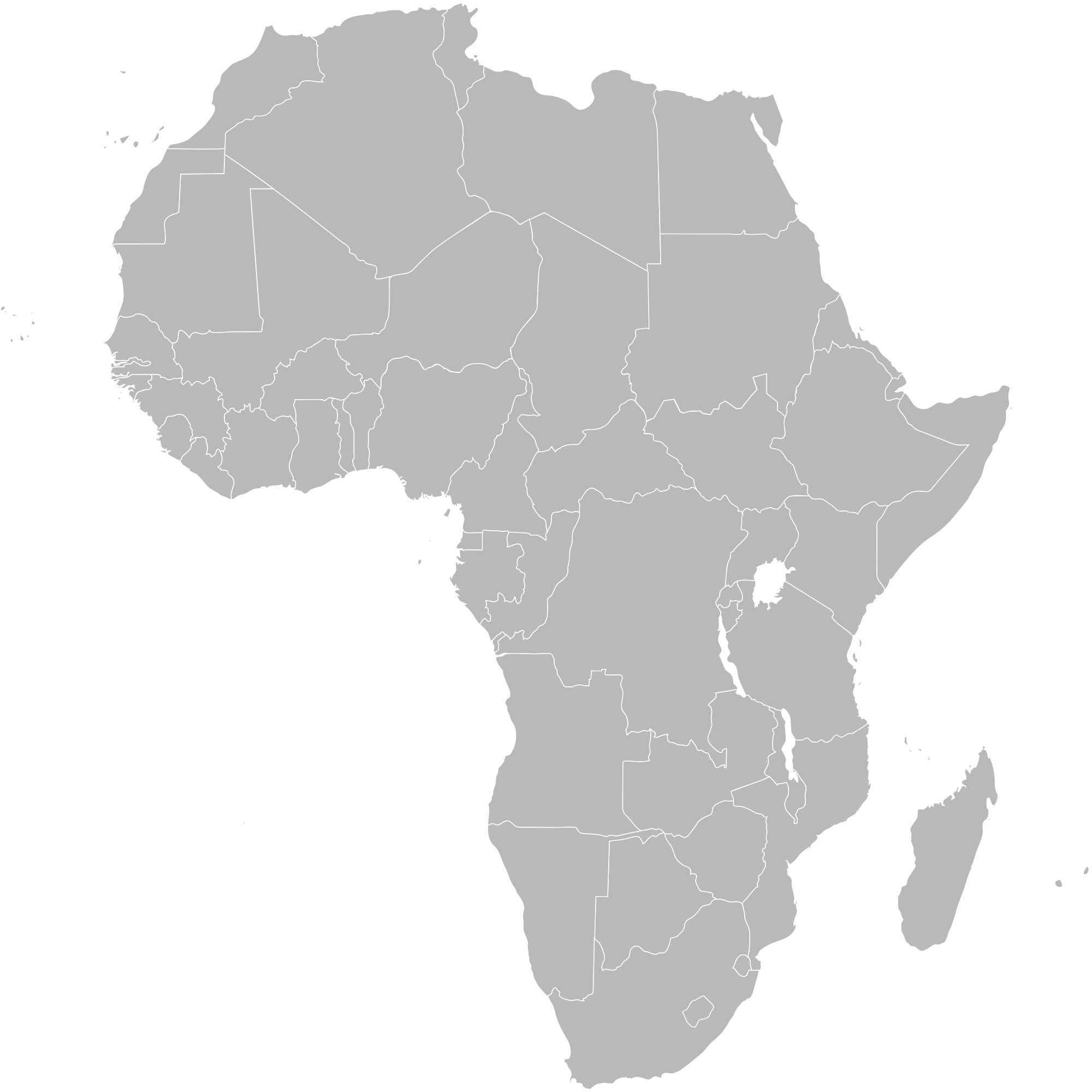 africa blank map png