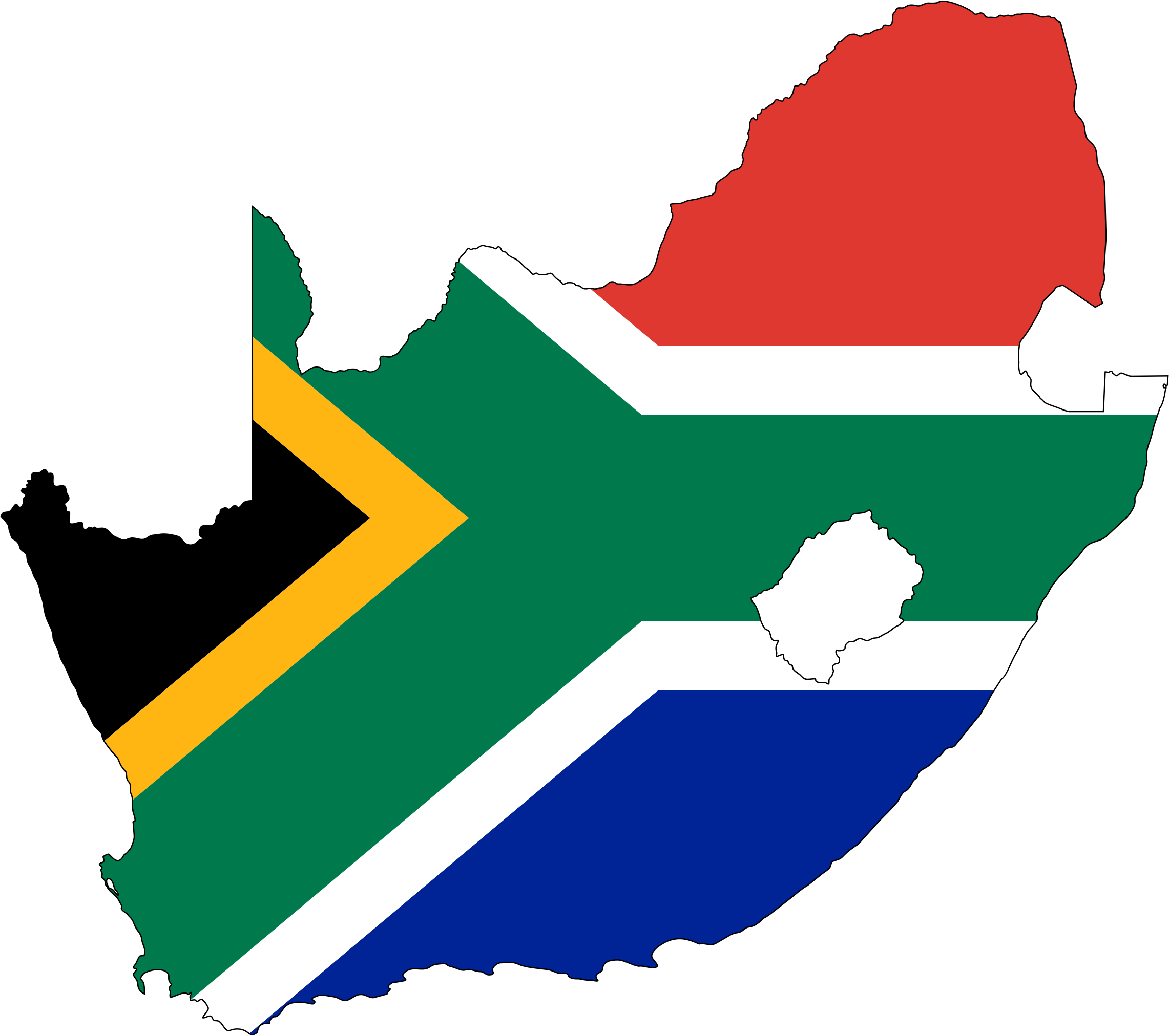 South flag map with. Africa png image image free stock