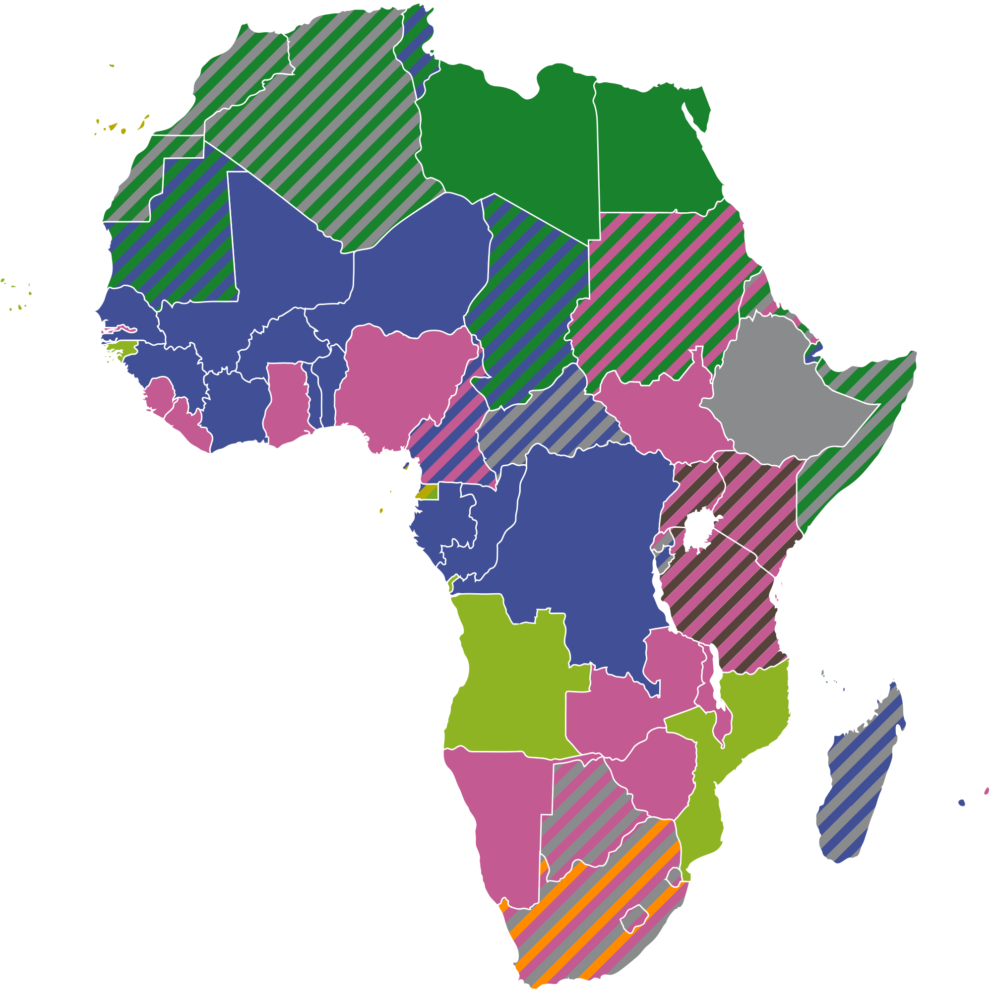 File official languagesmap wikimedia. Africa png image banner royalty free