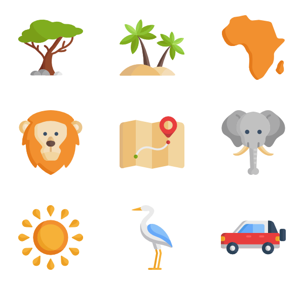 Africa png. Icon packs vector