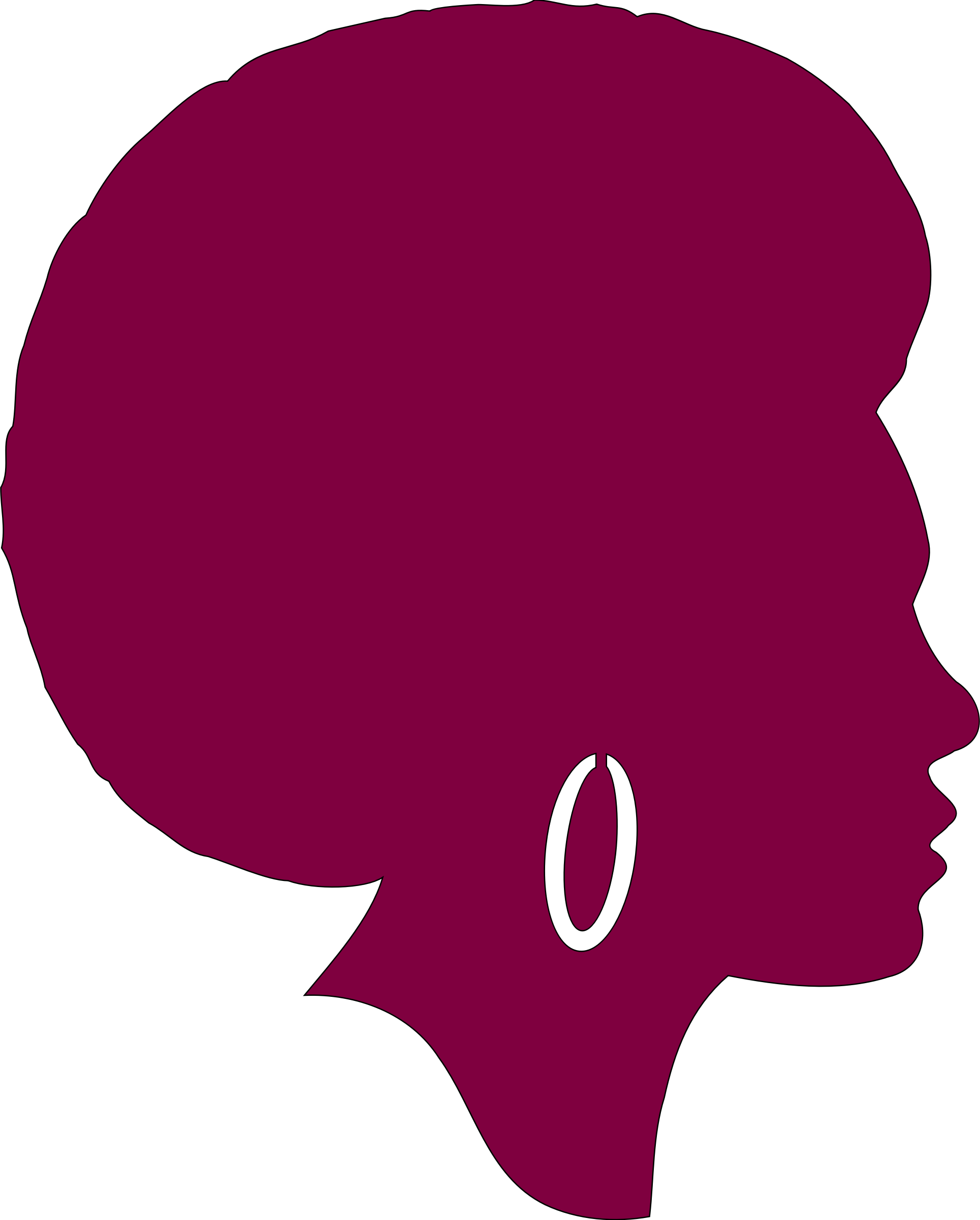 Africa silhouette png. African american female remix
