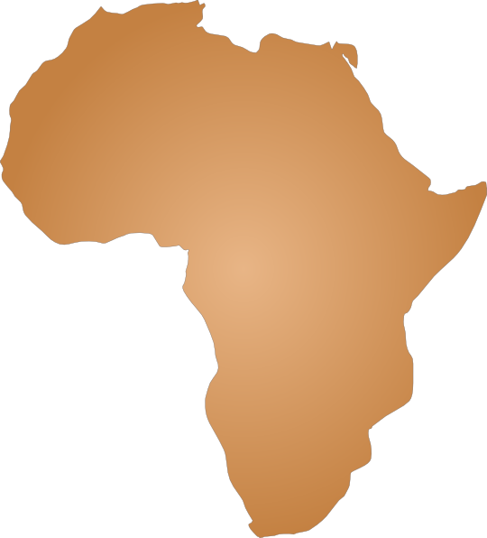 Africa clipart large. Outline clip art at