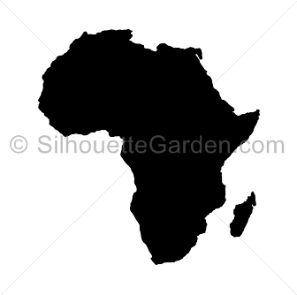 Africa silhouette png.