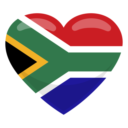Africa vector png. South heart flag transparent