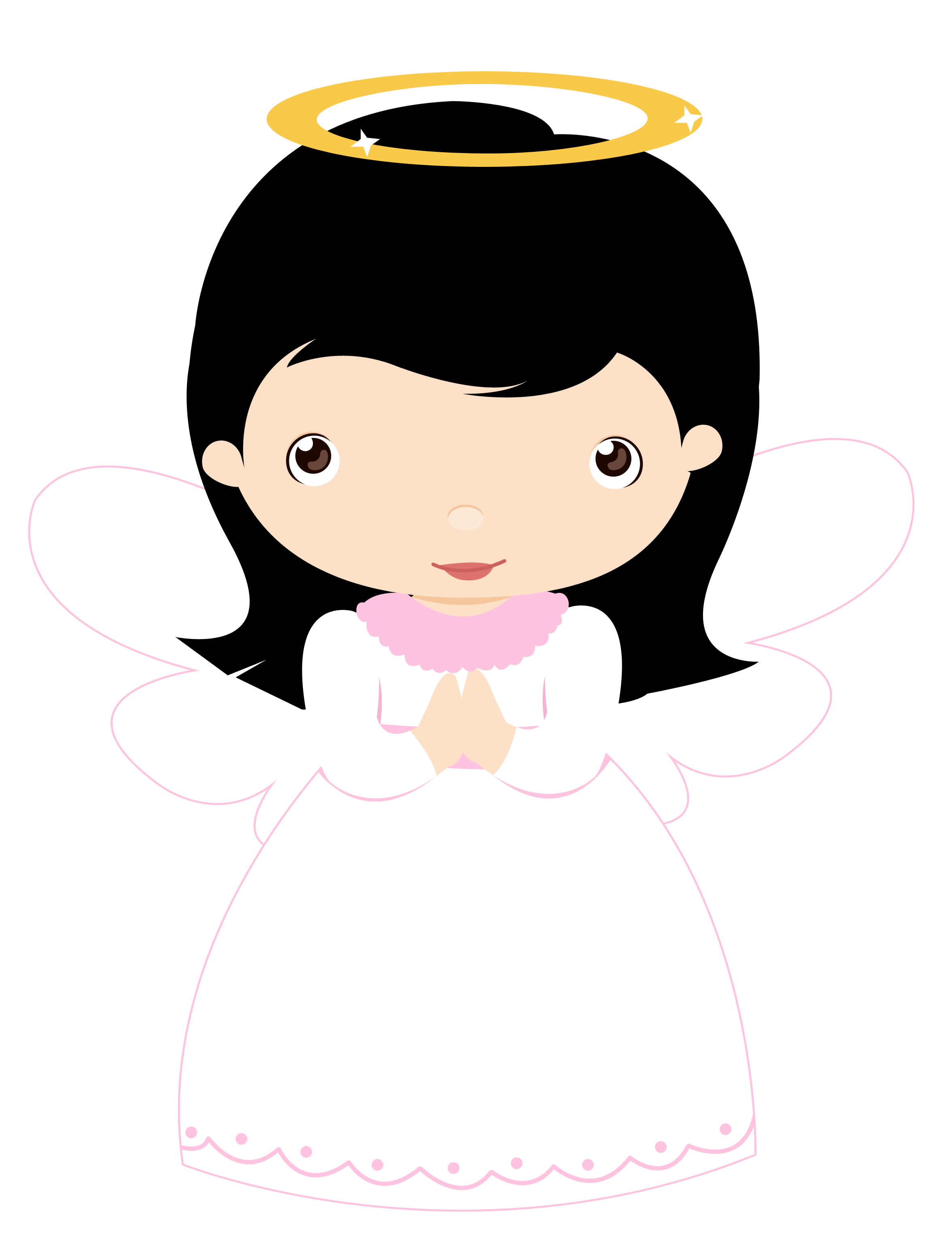 African american angels png. Little girls cat minus