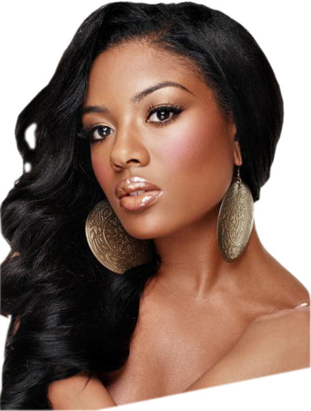African american model png. Hair wig psd official