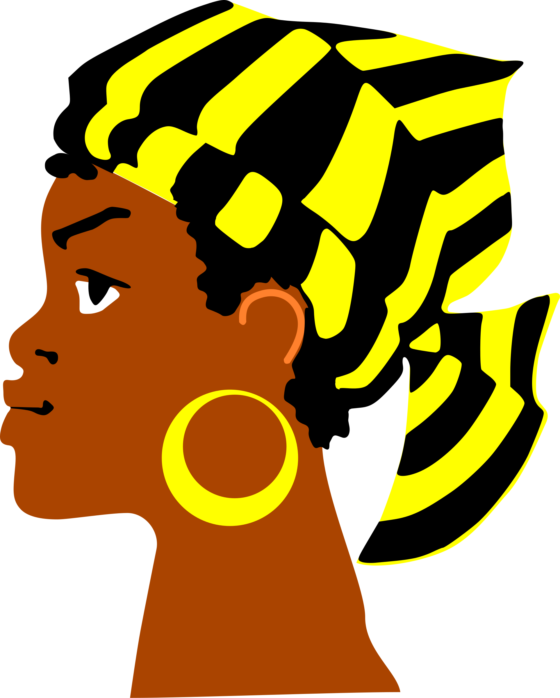 African clipart head. Lady s big image