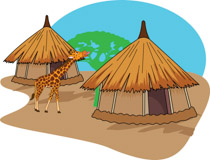 African clipart mud hut. Search results for clip