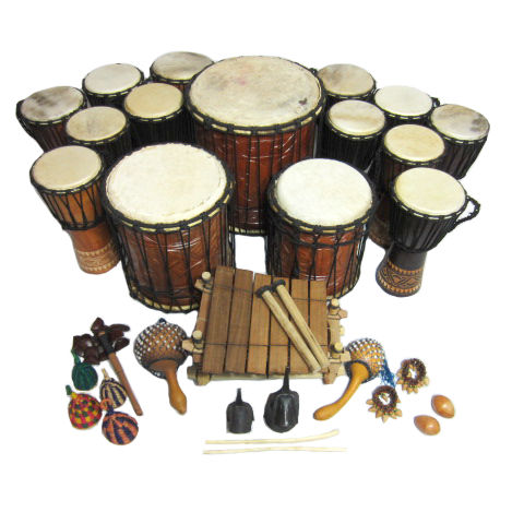 African drums png. Primary big band pack