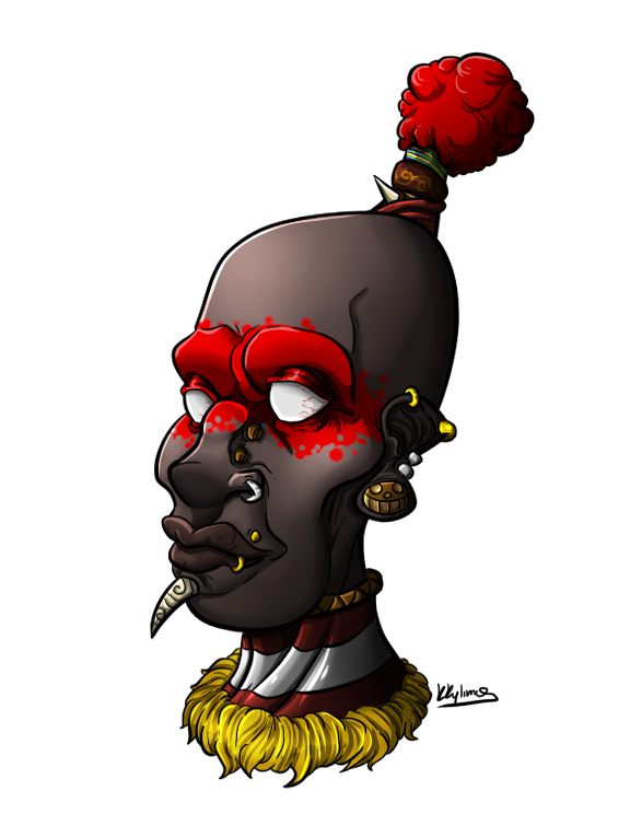 African warrior png. By kkylimos on deviantart