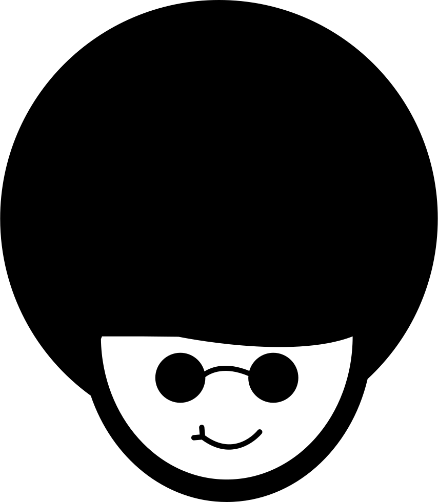 Afro cartoon png. Man with hair style