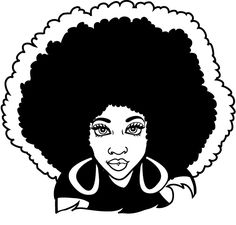 Afro clipart. Free woman silhouette clip
