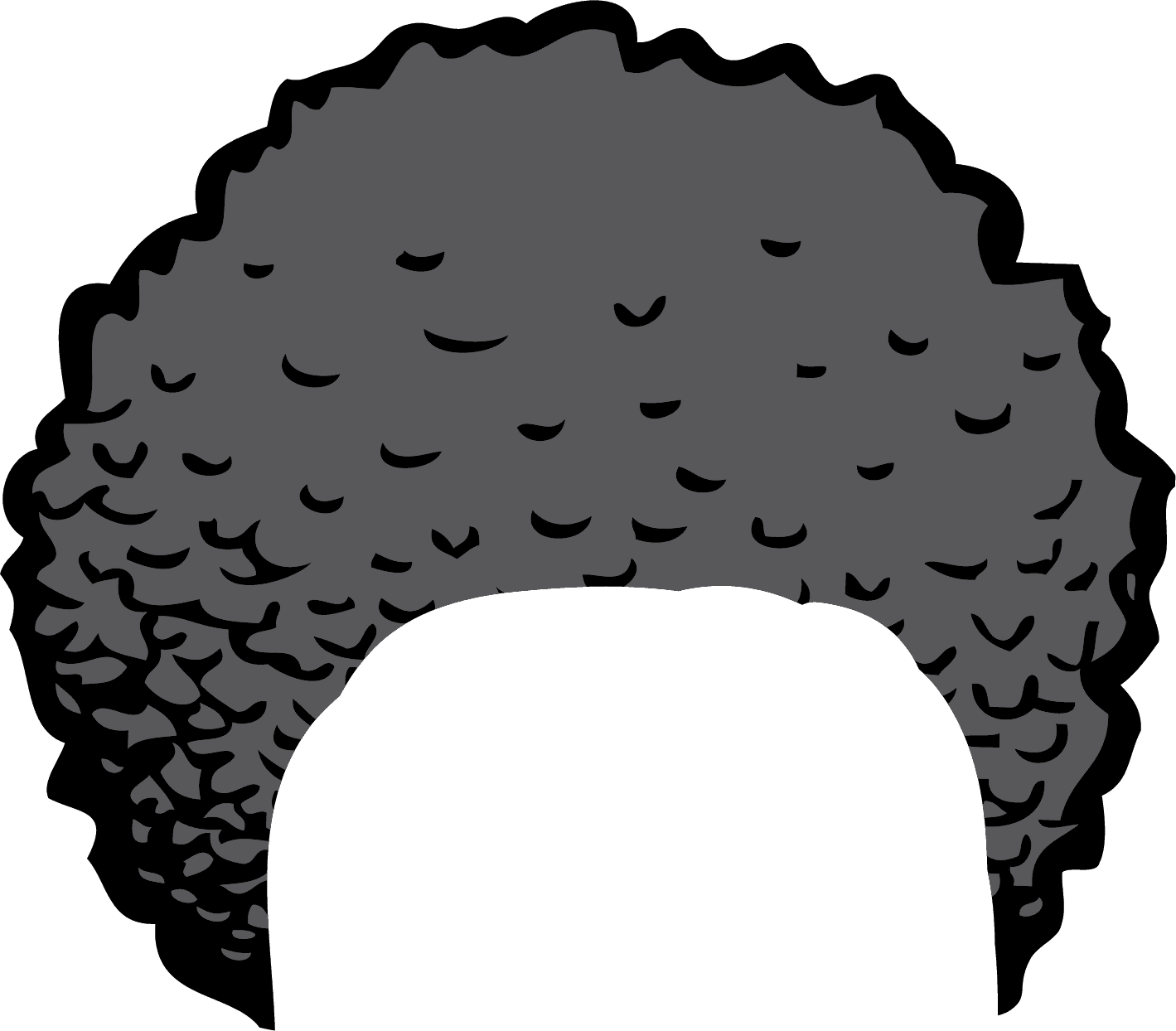 brown afro png
