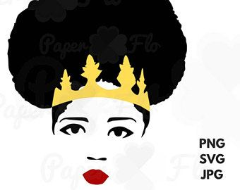 Afro clipart black queen. Woman svg diva jpg