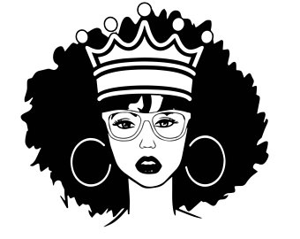 Woman fashion nubian princess. Afro clipart black queen graphic freeuse library