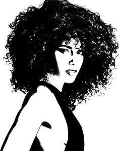 Afro clipart black woman face. African american young png
