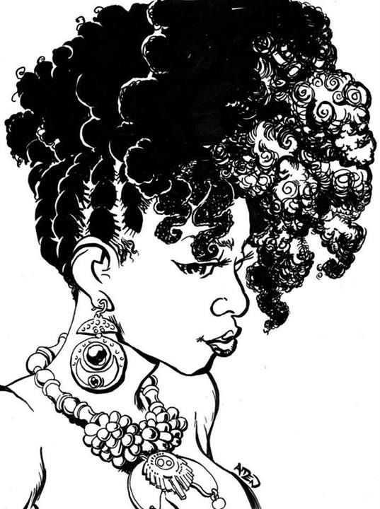 Afro clipart cartoon hair. Black girl natural cartoons