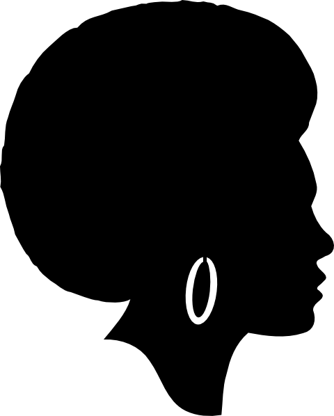 Afro clipart crown silhouette. Free woman clip art