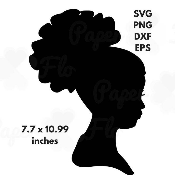 African woman silhouette svg. Afro clipart file clip art freeuse stock