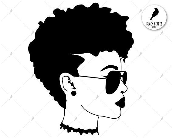 Black woman sunglasses shades. Afro clipart glass svg image free stock